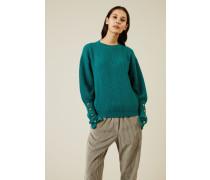 Rippstrick-Cashmere-Pullover Grün - Cashmere