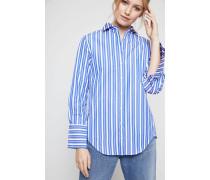Gestreifte Baumwollbluse 'Roxi' Blue Strip - 100% Baumwolle