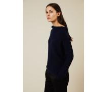 Cashmere-Pullover mit U-Boot-Ausschnitt Marineblau - Cashmere