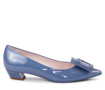 Ballerinas 'Gommettine Ball 25' aus Lackleder Taubenblau