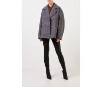 Woll-Jacke mit Glencheck Grau/Multi