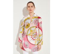 Baumwoll-Tunika 'Stephanie' mit Print Pink/Multi
