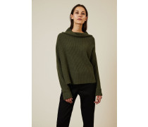 Cashmere-Pullover mit U-Boot-Ausschnitt Olivgrün - Cashmere