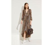 Wickelkleid mit Leopardenmuster 'Printed Georgette' Multi