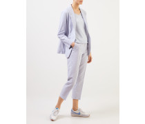 Pullover mit Glitzerdetail Hellblau/Silber