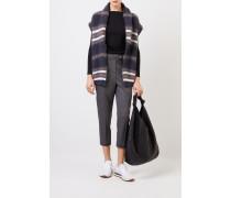 Feiner Alpaca-Pullover mit Lurexdetails Schwarz