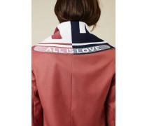 Woll-Schal mit Logo-Schriftzug Blau/Rot