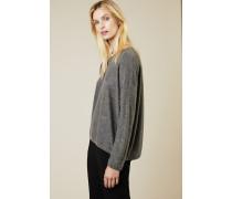 Oversize Cashmere-Pullover Anthrazit - Cashmere