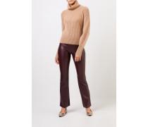 Cashmere-Pullover 'Seille' mit Rollkragen Camel