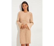 Kurzes Kleid mit Rüschen Sand Brown