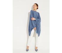 Cashmere-Poncho Blau