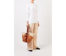 Cashmere Pullover mit Schleifen-Detail Weiß