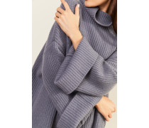 Oversize Cashmere-Pullover Taubenblau