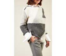 Handstrick-Cashmere-Pullover 'Demi' Grau
