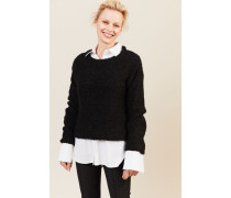 Pullover 'Eileen' aus Alpaka und Wolle Schwarz