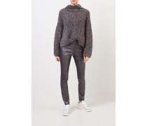 Woll-Pullover mit Paillettendetails Anthrazit