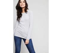 Baumwoll-Cashmere-Pullover Grau - Cashmere