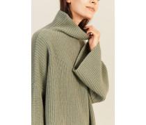 Oversize Cashmere-Pullover Salbei