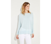 Cashmere-Pullover mit O-Neck Mint