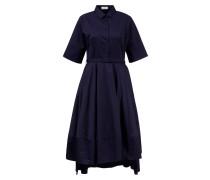 Ausgestelltes Blusenkleid aus Baumwolle Dunkelblau