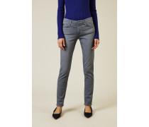 Cigarette Leg Jeans 'The Prima' Grau