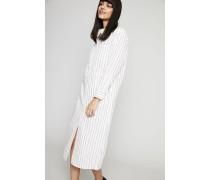 Gestreiftes Kleid 'Cornelia' Weiß - 100% Baumwolle