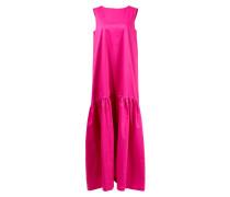 Langes ausgestelltes Baumwollkleid Pink