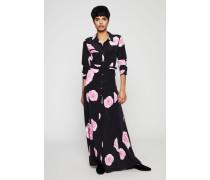 Maxi-Seidenkleid 'Fayette Silk' mit Blumenprint Schwarz - Seide