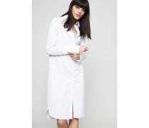 Hemdblusenkleid mit breiter Manschette Silver Stripe - 100% Baumwolle