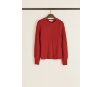 Strick-Woll-Pullover 'Kennedy' Rot