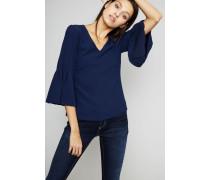 Bluse mit Glockenärmel Marineblau