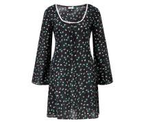 Kurzes Kleid 'Celeste' mit Blumenprint Schwarz/Multi