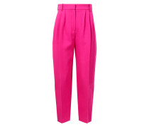 Highwaist-Bundfaltenhose Pink