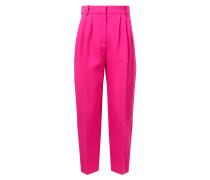 Highwaist-Bundfaltenhose Pink