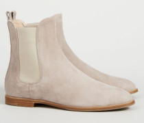 Chelsea Boot 'Tronchetto Donna' Light Taupe - Veloursleder