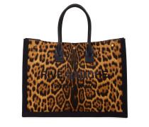 Tote Bag 'Noe Cabas' mit Leopardenprint