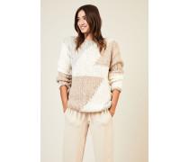 Handstrick-Cashmere-Pullover 'Demi' Beige - Cashmere