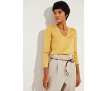 Cashmere-Seiden Shirt Gelb