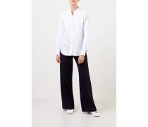 Baumwoll-Bluse mit feinen Streifen Weiß/Blau