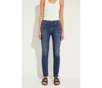 High-Rise Skinny-Jeans 'Harlow' Blau