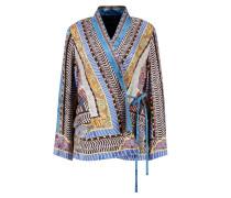 Kurzer Kimono mit Print Multi