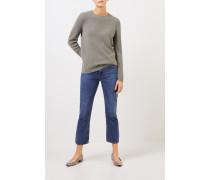 Cashmere-Pullover mit Mesh-Strick Salbei
