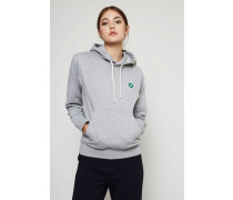 Baumwoll-Hoodie 'Jenn' Grey Melange - 100% Baumwolle