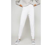 Cashmere-Jogginghose Weiß