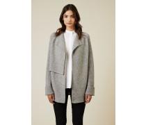 Woll-Cashmere Cardigan Grau - Cashmere