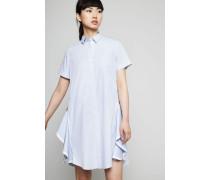 Hemdblusenkleid mit Zipper-Details Light Blue