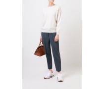 Klassischer Cashmere-Pullover Beige