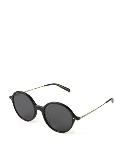 Runde Sonnenbrille 'Corby' in Hornoptik Schwarz