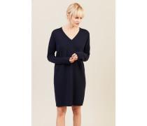 Cashmere-Woll-Kleid Blau