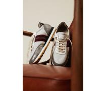 Sneaker mit Perlenverzierung Grau/Multi
